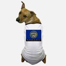 Nebraska State Flag Dog T-Shirt