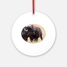 bison friendship Ornament (Round)