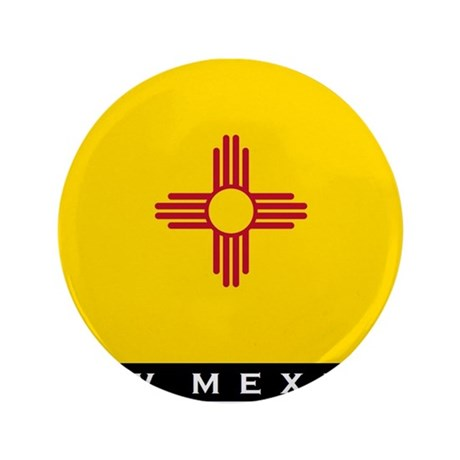 "New Mexico State Flag 3.5"" Button"