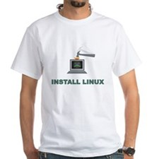 Install Linux - Problem Solved T-shirt