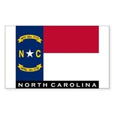 North Carolina State Flag Decal