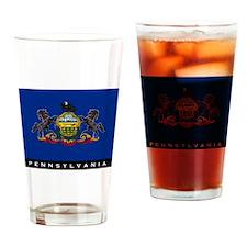 Pennsylvania State Flag Drinking Glass