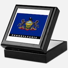 Pennsylvania State Flag Keepsake Box