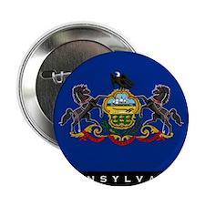 """Pennsylvania State Flag 2.25"""" Button"""