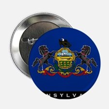 "Pennsylvania State Flag 2.25"" Button"