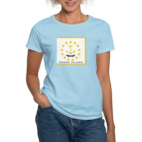 Rhode Island State Flag Women's Light T-Shirt