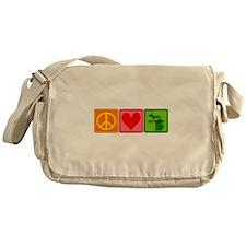 Peace Love Michigan Messenger Bag