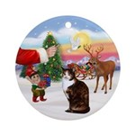 Treat for a calico cat Ornament (Round)