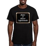 Rape is never legitimate Men's Fitted T-Shirt (dar