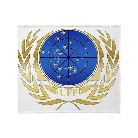 ufp gold logo throw blanket by quatrosales