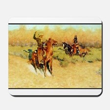 The Longhorn Cattle Sign, 1911 Mousepad
