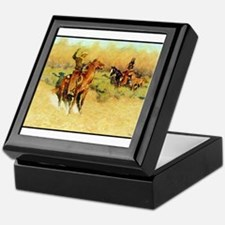 The Longhorn Cattle Sign, 1911 Keepsake Box