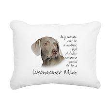 Weimaraner Mom Rectangular Canvas Pillow