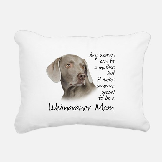 Weimaraner Mom Rectangular Canvas Pillow