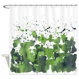 Aqua shower curtain Shower Curtains