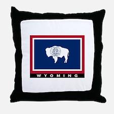 Wyoming State Flag Throw Pillow