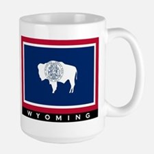 Wyoming State Flag Large Mug