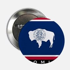 """Wyoming State Flag 2.25"""" Button"""