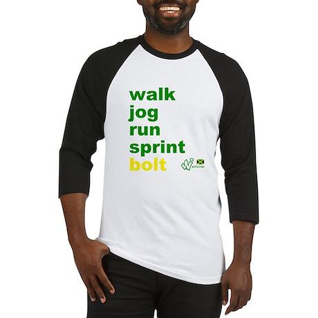 Walk. Jog. Run. Sprint. Bolt. Baseball Jersey