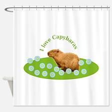I love Capybaras Shower Curtain