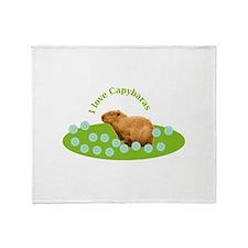 I love Capybaras Throw Blanket