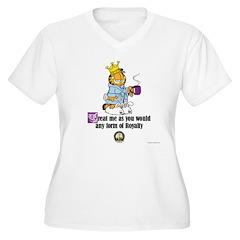 Women's Plus V-Neck CFA Logo Garfield T-Shirt