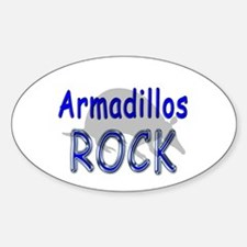 Armadillos Rock Oval Decal