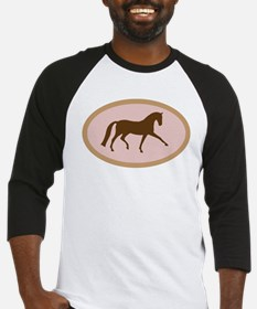 Funny Pink dressage horse womens Baseball Jersey