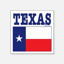 "Flags: Texas Square Sticker 3"" x 3"""