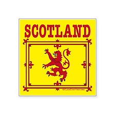 """Flags: Scotland Trad Square Sticker 3""""x3&quot"""