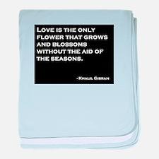 Khalil Gibran Quote baby blanket