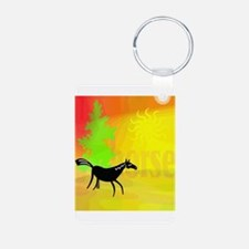 happy horse in sunshine Keychains