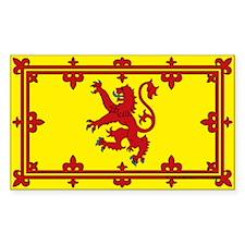 Scotland Flag: Traditional (Rectangle Sticker)