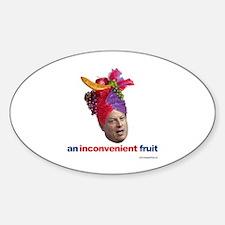 Al Gore Inconvenient Oval Decal