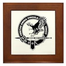 SAD Unit Crest B-W Framed Tile