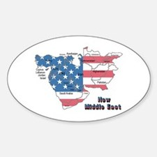 New Middle east Oval Decal