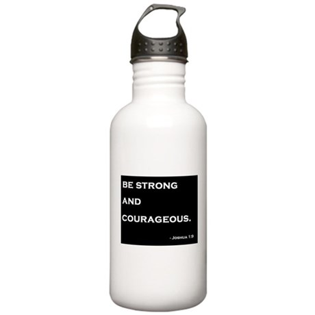 Joshua 1:9 Quote Stainless Water Bottle 1.0L