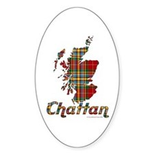 Scotland Map w/Chattan Tartan Decal