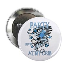 PARTY AT MY CRIB Button