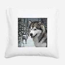 Malamute Square Canvas Pillow
