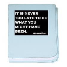 George Eliot Quote baby blanket