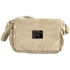 George Eliot Quote Messenger Bag