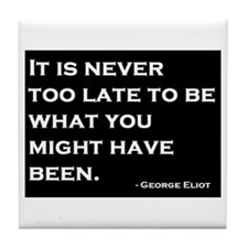 George Eliot Quote Tile Coaster