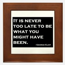 George Eliot Quote Framed Tile