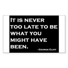George Eliot Quote Decal