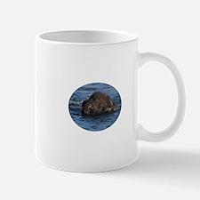 bison swimming Mug