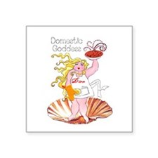 Domestic Goddess Square Sticker 3""