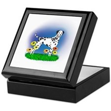 Dalmatian with Daisies Keepsake Box