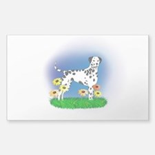Dalmatian with Daisies Decal