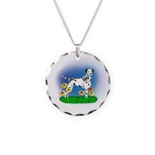 Dalmatian with Daisies Necklace